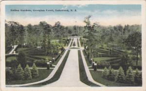 Italian Gardens, Georgian Court, Lakewood, New Jersey, PU-1915