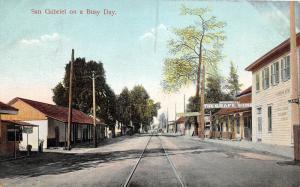 E59/ San Gabriel California Postcard c1910 Livery Grape Vine Largest in World