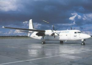 EUROPEAN AIR EXPRESS, Fokker 50, unused Postcard
