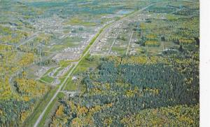 Aerial View, Colorful Trees and Distribution Centre at Fort Nelson, British C...