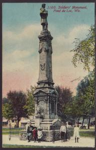 Soliders Monument,Fond Du Lac,WI Postcard