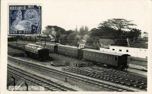indonesia, JAVA SOERABAIA, Semut Railway Station (1937) RPPC Postcard