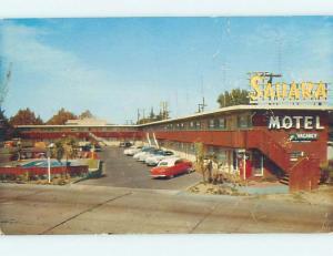 Pre-1980 SAHARA MOTEL Fresno California CA M4392