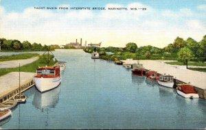 Wisconsin Marinette Yacht Basin From Interstate Bridge