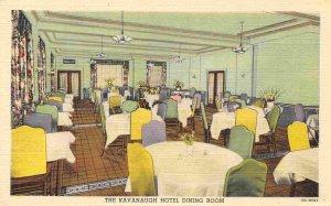 Kavanaugh Hotel Dining Room Interior Harrisonburg Virginia 1940s linen postcard