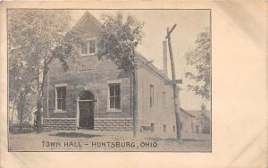 E49/ Huntsburg Geauga County Ohio Postcard c1910 Town Hall Building