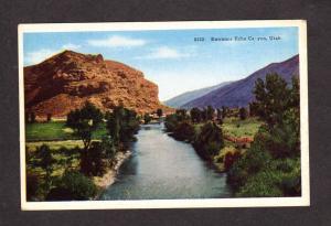 UT Entrance Echo Canyon Utah Postcard