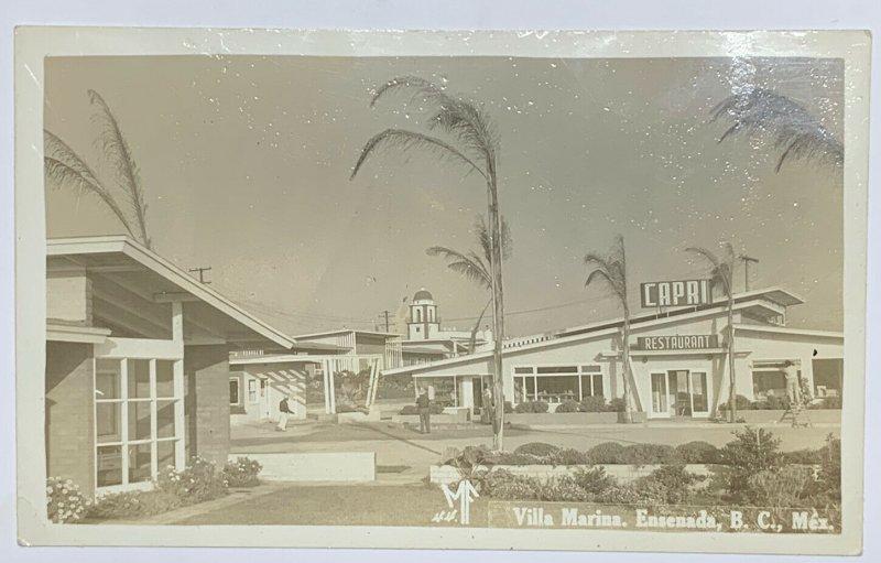 VTG Kodak Real Photo Postcard RPPC Villa Marina Ensenada, B.C. Mexico Postcard