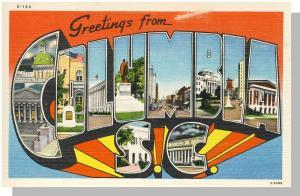 Columbia, South Carolina/SC Postcard, Greetings/Multi-View