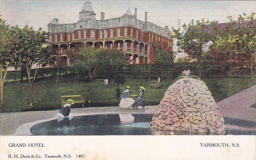 Grand Hotel Yarmouth Nova Scotia Canada 00 10s Hippostcard