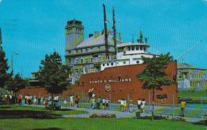 Cargo Freighter Ship HOMER D. WILLIAMS, Soo Locks , Sault Ste. Marie , Mich...