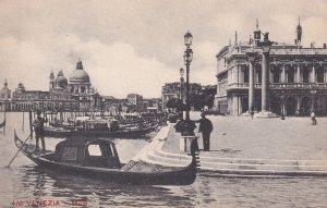 VENEZIA, Veneto, Italy, 1900-1910s; Molo, Gondolas