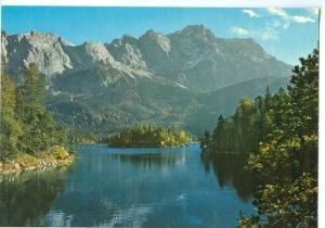 Germany, Eibsee, mit Zugspitze 2964 m, unused Postcard