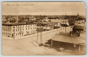 Larimore North Dakota~Main Street Stores~Swain House Hotel~Lumber Yard~1910 RPPC
