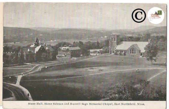 Vintage Postcard Stone Hall Home Science and Russell Sage Memorial Chapell