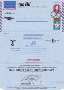 Richard Pearse First Aircraft New Zealand 2x Auckland Aerogramme