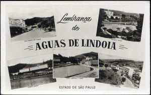 brazil, LINDOIA, S.P., Multiview, Street Scenes, Tamoyo Hotel (1950s) RPPC