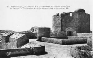 France - Marseille, Le Chateau d'If  Terrace at the Dungeon    RPPC