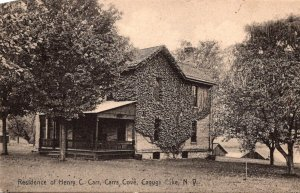 New York Cayuga Lake Carr's Cove Residence Of Henry C Carr 1916