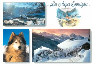 France Postcard different aspects