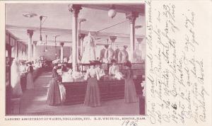 BOSTON, Massachusetts, 1906; Ladies shopping for Waists, Negligees, Etc.