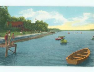 Unused Pre-1980 BEACH SCENE Cayuga Lake State Park - Ithica New York NY d7428