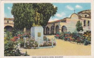 Front View Showing Serra Monument, Mission San Juan Capistrano, Founded 1776,...