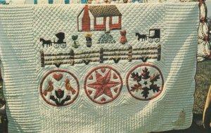 Pennsylvania Dutch Quilt , 1950-60s