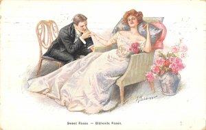 US2948 Sweet Roses, Bluhende Rosen  germany couple goals  flirt love