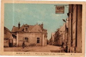 CPA Marce - Place de l'Église et Rue Principale (165176)