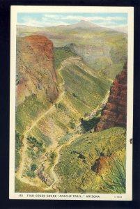 Apache Junction, Arizona/AZ Postcard, Fish Creek Grade, Apache Trail