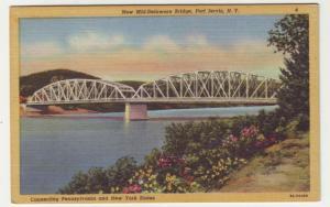 P540 JLs 1930-45 linen new mid-delaware bridge port javis new york