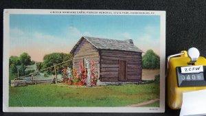 STD Vintage Lincoln Marriage Cabin Pioneer Memorial State Park Harrodsburg Kentu