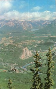 AB BANFF View from the Gondola Lift on Sulphur Mountain pm1962Chrome 1950s-1970s