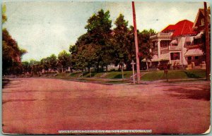 1910 South Bend, Indiana Postcard NORTH SHORE DRIVE Residential Street Scene