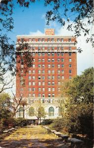 Charleston South Carolina~Francis Marion Hotel~Park with Concrete Benches~1958