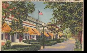 Arkansas Hot Springs Million Dollar Bath House Row & Promenade 1951 Curteich