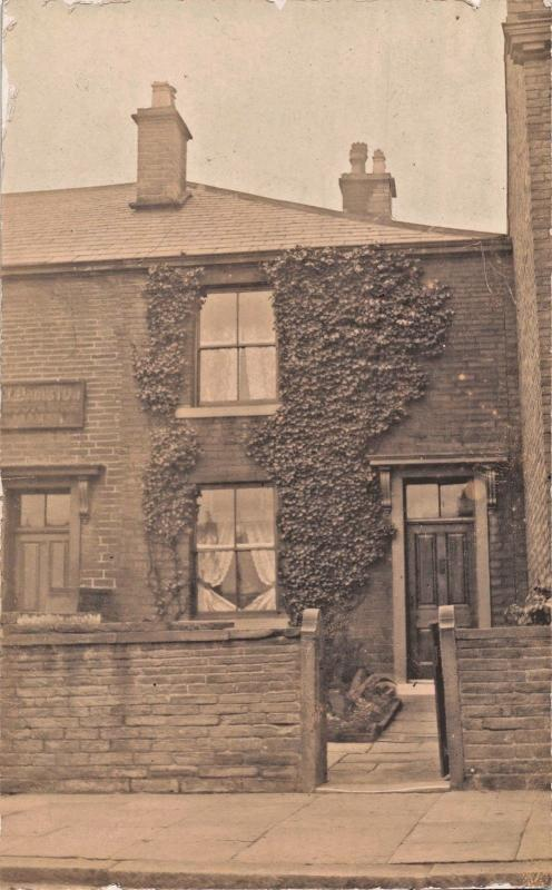 BRADFORD ? UK~SIGN APPEARS TO SAY JOHNSON MANOR~REAL PHOTO POSTCARD