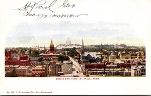 Minnesota St Paul Birds Eye View 1907