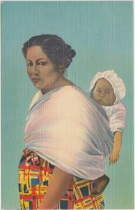 NATIVE AMERICAN Indian Postcard CHEROKEE INDIAN MOTHER Papoose 144