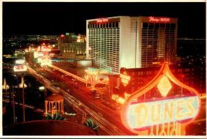 Flamingo Hilton The Strip At Las Vegas At Night Nevada