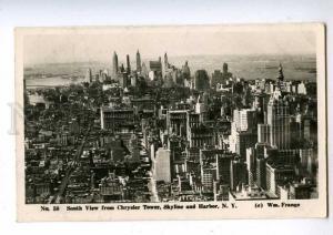 192522 USA NEW YORK Chrysler Tower Vintage photo postcard