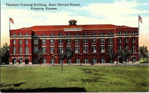 Physical Training Building State Normal Emporia KS Postcard Standard View Card