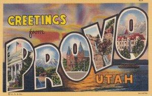 LARGE LETTER, PROVO, Utah, 1930-1940's