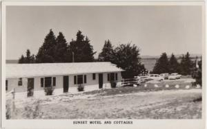 Old LITTLE CURRENT Manitoulin Island Ontario Canada RPPC Postcard SUNSET MOTEL
