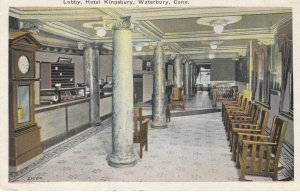 WATERBURY , Connecticut , 1925 ; Lobby , Hotel Kingsbury