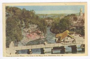 Digue Sur La Riviere Magog, The Gorge Of The Magog River, Sherbrooke, Quebec,...