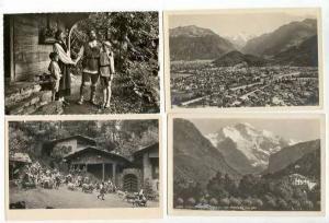Lot of 5 RPs from Interlaken, Switzerland, 1900-30s