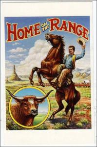 Home on the Range with 19c Stamp on Back
