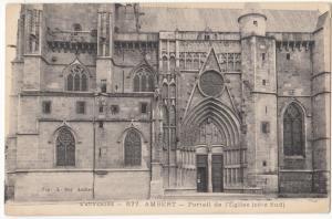 France, L'AUVERGNE, AMBERT, Portail de l'Eglise, unused Postcard